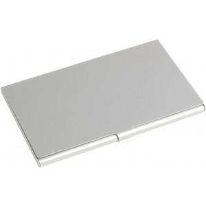 Alumínium névjegykártya tartó, ezüst